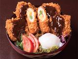 あけぼの大豆の味噌カツ丼